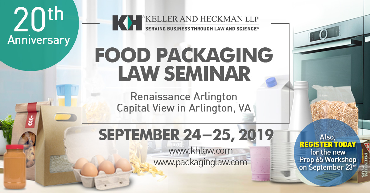 Food Packaging Law Seminar and Proposition 65 Pre-Conference